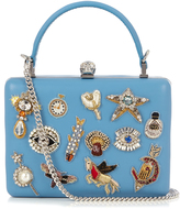 Alexander McQueen Obsession-embellished leather box clutch