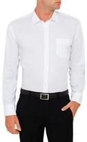 Van Heusen White Self Stripe Slim Fit Shirt