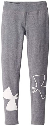 Under Armour Kids Finale Leggings (Big Kids) (Downpour Gray Medium Heather/White) Girl's Casual Pants