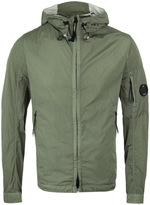 Cp Company Chrome Olive Lightweight Hooded Watchviewer Jacket