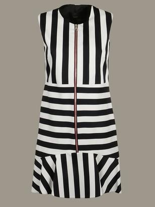 Pinko Striped Dress With Zip