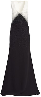 Ahluwalia Toiny Bi-Color Embellished Gown