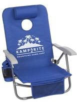 Kamp Rite Sac it Up Conhole Folding Beach Chair Kamp-Rite Color: Blue