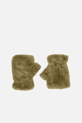Apparis 100% Polyester Ariel Fingerless Faux Fur Glove
