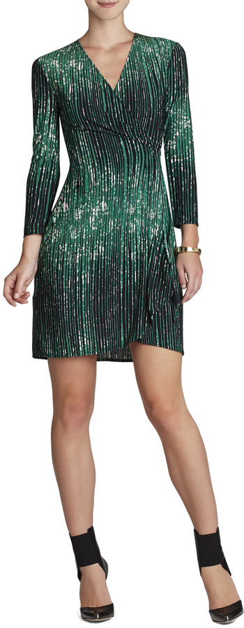 BCBGMAXAZRIA Adele Printed Wrap Dress