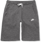 Nike Legacy Mélange Loopback Cotton-jersey Drawstring Shorts - Charcoal