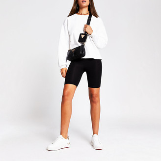 River Island Cream quilted sleeve sweat