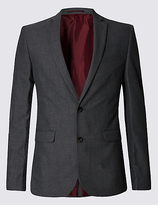Limited Edition Grey Checked Modern Slim Fit Jacket