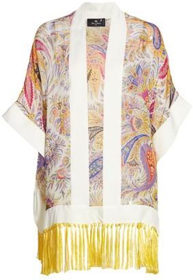 Etro Kesa Silk Fringe Kimono