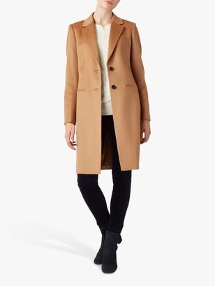 Hobbs Petite Tilda Wool Coat, Vicuna