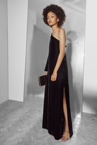 French Connection Aurore Velvet One Shoulder Maxi Dress