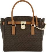 MICHAEL Michael Kors Hamilton East/West large leather satchel