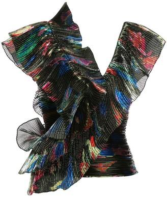 Vionnet pleated ruffle blouse