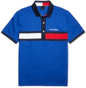 Tommy Hilfiger Adaptive Men's Custom-Fit Holly Polo Shirt with Magnetic Buttons