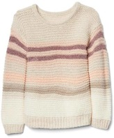 Gap Shimmer stripe garter sweater