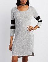 Charlotte Russe Varsity Stripe Sweater Dress