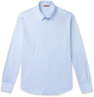 Barena Slim-Fit Checked Cotton-Poplin Shirt