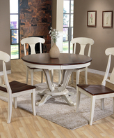 Baxton Studio Napoleon Shabby Chic Country Cottage Round Dining Table