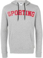MSGM sporting print hoodie