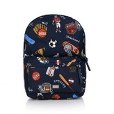 Dolce & Gabbana Dolce & GabbanaBoys Navy Sports Print Backpack