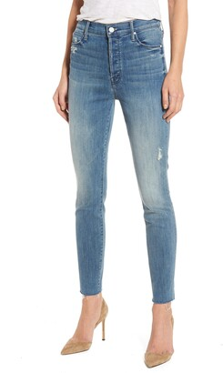 Mother The Stunner Frayed Ankle Skinny Jeans