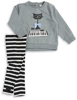 Kate Spade Baby Girls Cat Graphic Top and Leggings Set