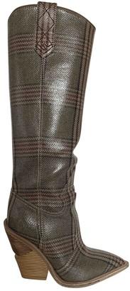 Fendi Cowboy Grey Patent leather Boots