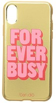 ban.do Leatherette Forever Busy iPhone X Case (Gold) Handbags