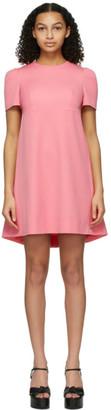 Alexander McQueen Pink Cape Back Dress