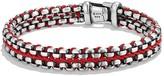 David Yurman Woven Box Chain Bracelet in Red