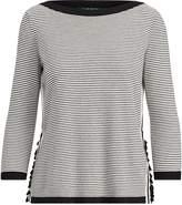 Lauren Ralph Lauren Ralph Lauren Ruffle-Trim Striped Sweater