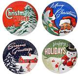 Certified International Retro Christmas 9in Dessert Plate - Set of 4