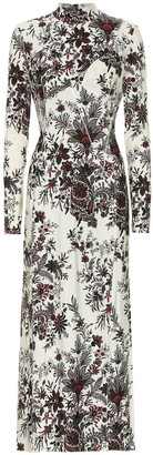 Paco Rabanne Floral stretch-crepe dress