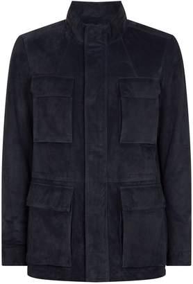 Corneliani Leather Field Jacket