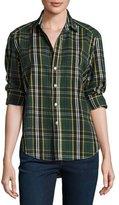 Frank And Eileen Eileen Plaid Button-Front Shirt, Green/Yellow