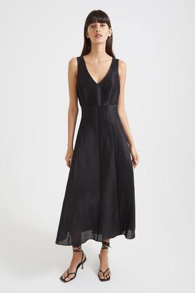 SABA Rome Linen Silk Maxi Dress