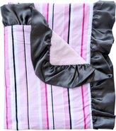 Caden Lane Luxe Collection Pinstripe Ruffle Blanket, Girl