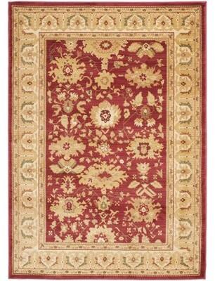 """Lauren Ralph Lauren Nellwyn Oriental Red/Creame Area Rug Rug Size: Rectangle 2'6"""" x 4'"""