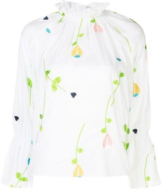 Cynthia Rowley Aurelia embroidered blouse
