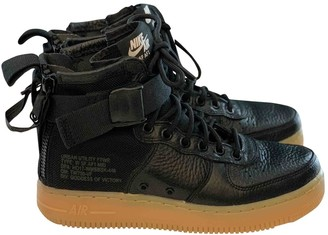 Nike SF Air Force 1 Black Leather Trainers