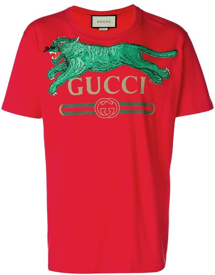 Gucci tiger logo T-shirt