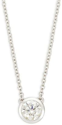 Hearts On Fire 18K White Gold & Diamond Circular Pendant Necklace