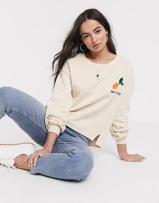 Ichi orange logo sweatshirt