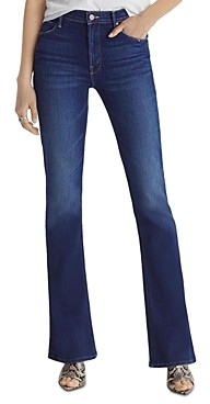 Mother The Runaway Mini Flare Jeans in Home Movies
