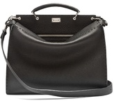 Fendi Peekaboo Grained-leather Briefcase