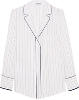 Frame Striped Silk Shirt - White