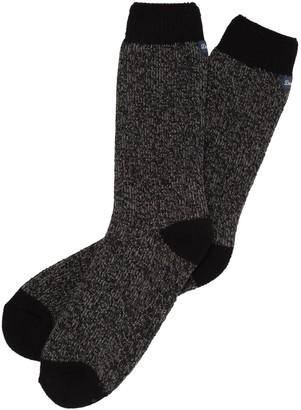 Dearfoams Men's Marled Knit Cabin Socks