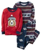 Carter's 4-Piece Bear Pajama Set in Red/Blue