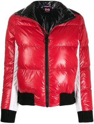 Colmar ultra-glossy hooded down jacket