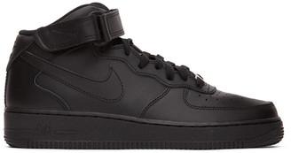 Nike Black Air Force 1 Mid 07 Sneakers